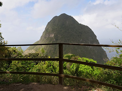 enjoying a fun, guided hike up St. Lucia's Gros Piton